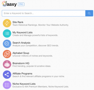 wealthy affiliates review of Jaaxy