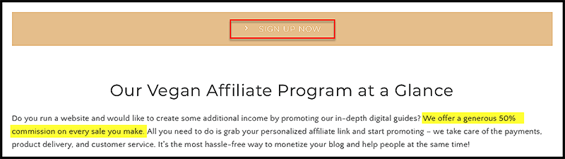 affiliate marketing companies offer commissions by percentage