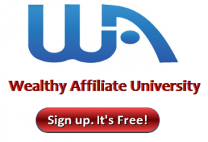 Wealthy Affiliate sign up button