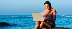 be your own boss, work from home or away on vacation