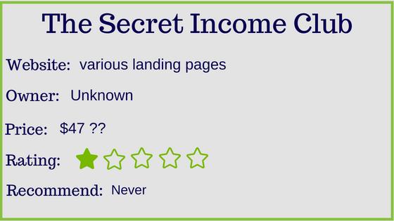 secret income club stats