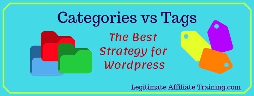 Wordpress Categories vs Tags