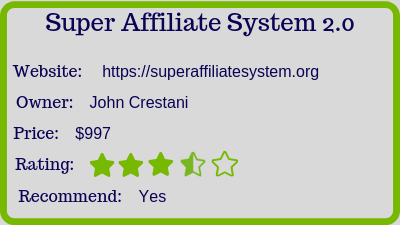 super affiliate system review rating