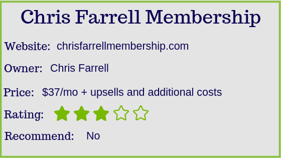 my chris farrell membership ratings