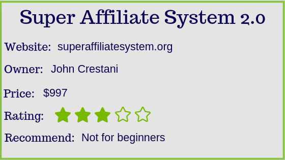 super affiliate system review stats