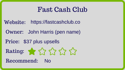 the fast cash club review - rating