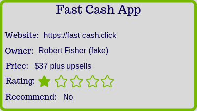 The Fast Cash App review rating