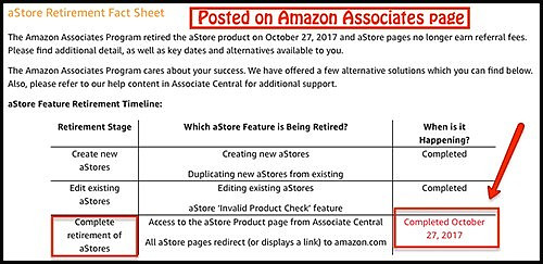 amazon no longer uses aStores