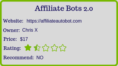 what is affiliate bots 2.0 review - rating
