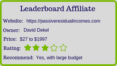 What Is The Leaderboard Affiliate? (Review) rating