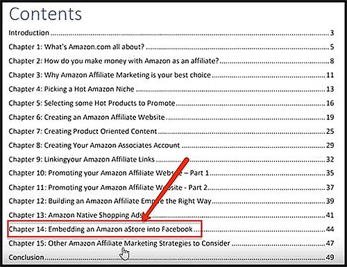 contents of amazon affiliates pdf