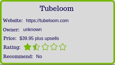 the Tubeloom review (rating)