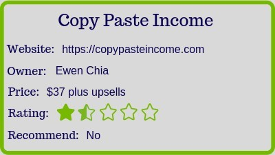 what is copy paste income (review) rating