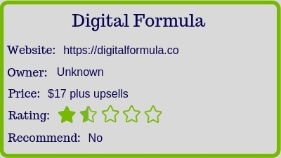 what is the digital formula review (rating)