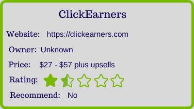 the click earners review rating