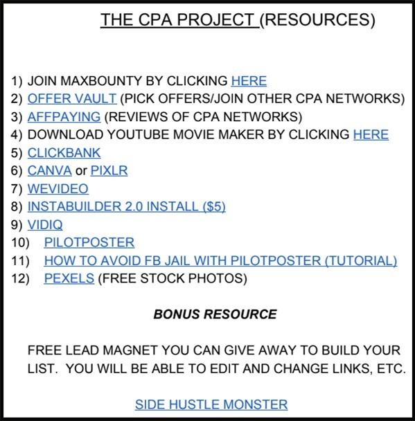 bonus resource of tools for task