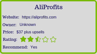 Aliprofits review (rating)