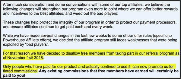 affiliate paying free members or not?