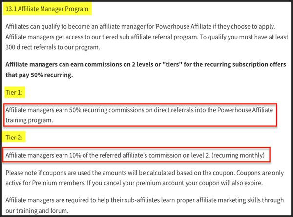 offervault payout is in tiers?