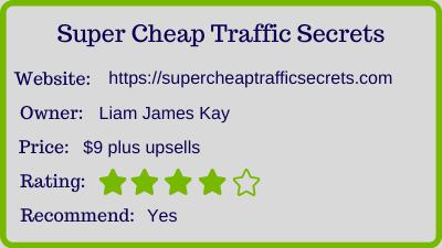 Super Cheap Traffic Secrets review - rating