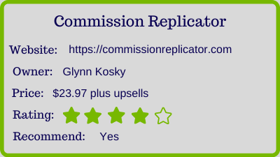 commission replicator review - rating