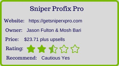 the sniper profix pro review rating
