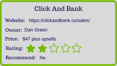 the click and bank review - rating
