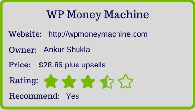 the wp money machine review - rating
