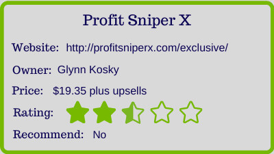 profit sniper x review - rating
