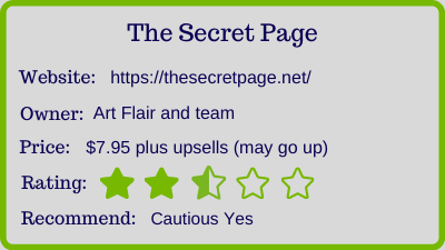 the secret page review - rating